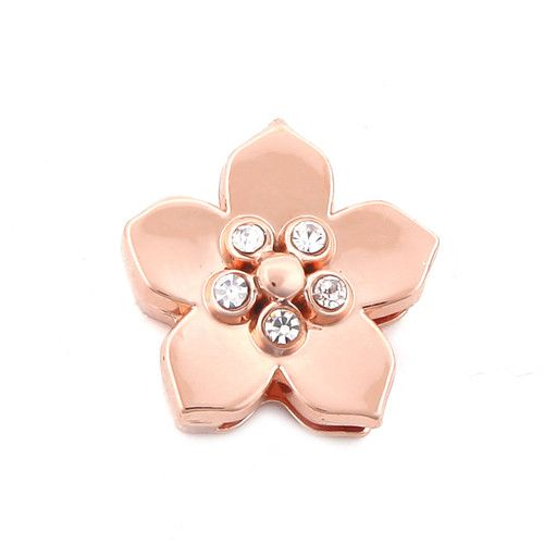Princesse Lou EMOTION Charm Fleur Or rose