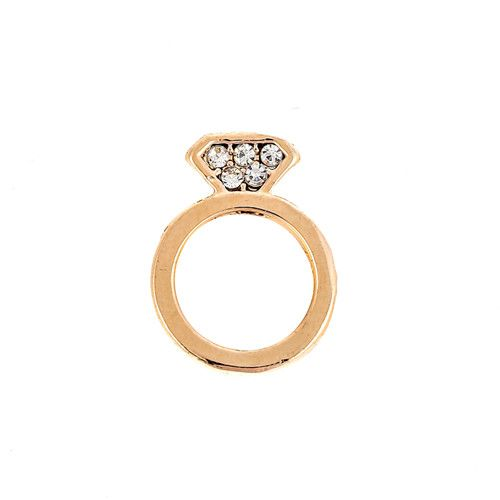 Princesse Lou EMOTION Charm Bague Or rose