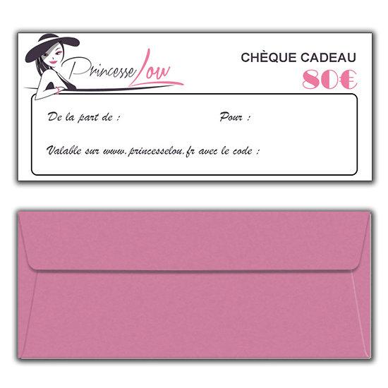 Chèque Cadeau 80 Euros
