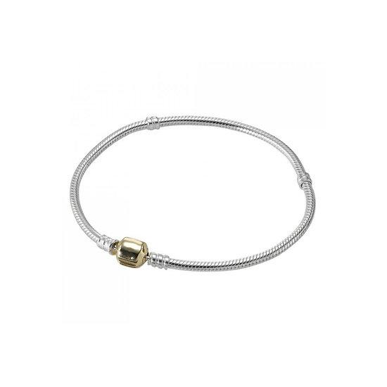 Bracelet charm Bicolore 19 cm