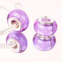 Purple glitter bead