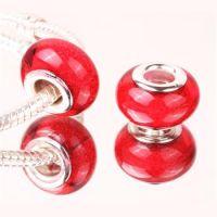 Red glitter bead