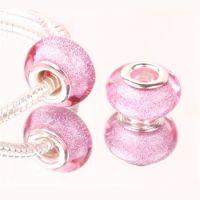 Pink glitter bead
