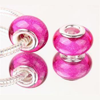 Perle à Paillettes Fuchsia
