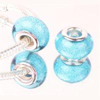 Perle à Paillettes Turquoise