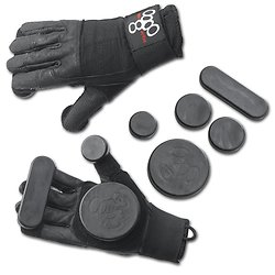 Gants de Slide Triple Eight Noir