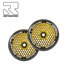 Roues Root Industries Honeycore 120 gold (la paire)