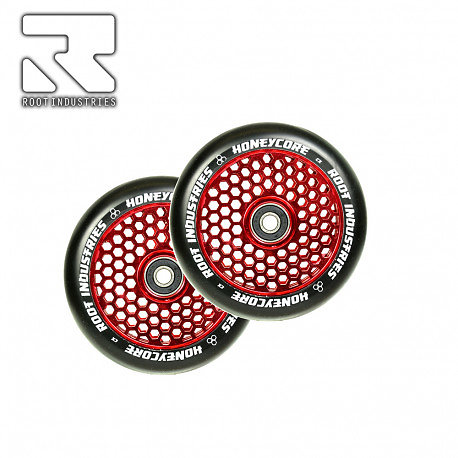 Roues Root Industries Honeycore 120 red (la paire)