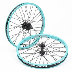 "Paire de roues Stolen cassette 20"" Carribbean Green"