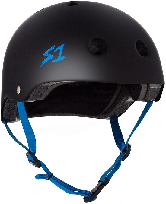S-one V2 Lifer Cpsc Certified Helmet Black/Cyan Strap