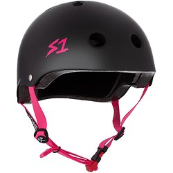 S-one V2 Lifer Cpsc Certified Helmet Black/Pink Strap