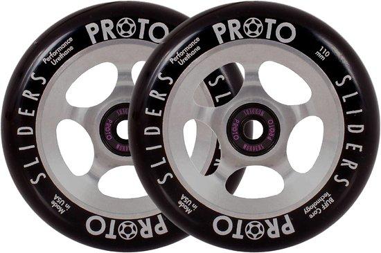 Proto Sliders Paire de roues 110 Black on Raw