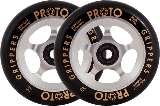 Proto Grippers Paire de roues 110 Black on Raw