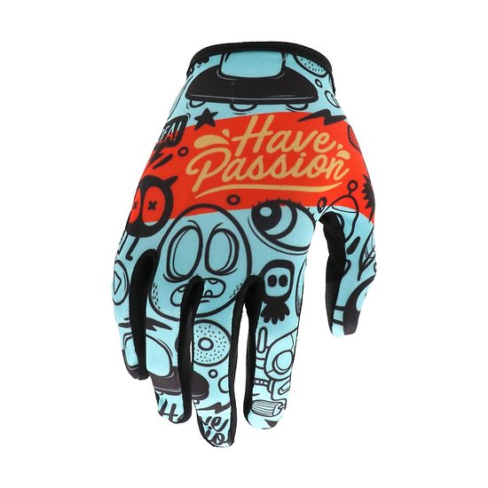 Evolve Gants Passion Adulte Cyan/Red