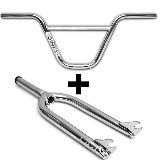 Foundation Pack Fourche P-25 & Guidon Protein 9″ Chrome