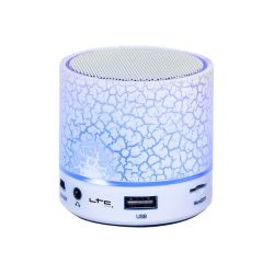 MINI ENCEINTE AUTONOME AVEC LED, BLUETOOTH, USB, MICRO-SD & MAINS-LIBRES GSM
