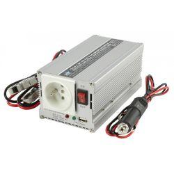 CONVERTISSEUR 24V DC VERS 230V 300W AVEC PORT USB