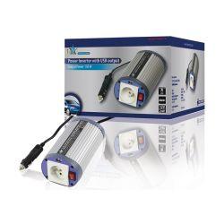 CONVERTISSEUR 12V DC VERS 230V 150W AVEC PORT USB