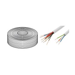 BOBINE 100 METRES CABLE YTDY 6X0,5mm BLANC