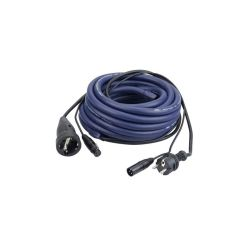 CORDON HYBRIDE DMX POWER MALE/XLR MALE - POWER FEMELLE/XLR FEMELLE 6 METRES