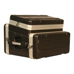 "FLIGHT CASE REGIE MOULE EN ABS 19"" GATOR TOP 6 UNITES + FRONT 4 UNITES"