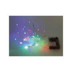 GUIRLANDE À LED - RGB - 20 LED - SUR PILES (120180)