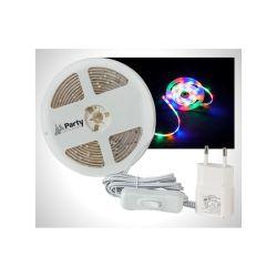 FLEXIBLE LUMINEUX A LED RVBA 96 LEDS (24 DE CHAQUE COULEUR) 3 METRES PARTY