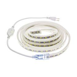 RUBAN LED 220V 10W SMD5050 1 METRE 60 LEDS 120° IP65 14X7mm BLANC FROID