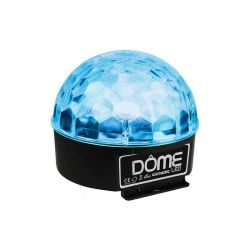 DEMI SPHERE LED 6X3W RGBWYP MODE AUTO ET MUSICAL GHOST