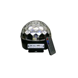 BOULE DMX 6 LED 3W RGBWYP + ENCEINTES POWER
