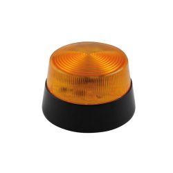 FLASH STROBOSCOPIQUE A LED AMBRE 12Vcc 77mm (120180)