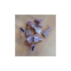 10 COSSES FEMELLES ISOLEES 6.4mm (0.5-1.0mm²) (6080)