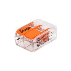 POCHETTE 10 WAGO 2 POLES 221-412 POUR CABLE 0.2 à 4mm2 32A 450V (6080)