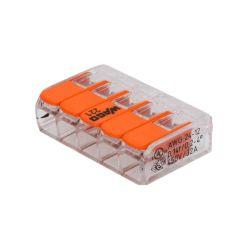 WAGO 5 POLES 221-415 POUR CABLE 0.2 à 4mm2 32A 450V LA PIECE (70100)