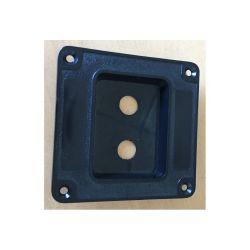 CUVETTE ENCASTRABLE PLASTIQUE POUR 2 EMBASES JACK OU RCA (100150)
