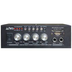 AMPLI KARAOKE NOIR 2X25W USB, SD, FM, BT + TELECOMMANDE PARTY