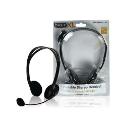 CASQUE STEREO MULTIMEDIA AVEC MICROPHONE 2X3.5mm BASIC XL