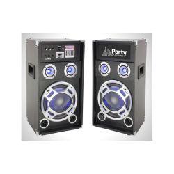 SYSTEME SONO 12'' AVEC 1 ENCEINTE ACTIVE USB/SD/BLUETOOTH + 1 PASSIVE PARTY