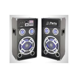 SYSTEME SONO 8'' AVEC 1 ENCEINTE ACTIVE USB/SD/BLUETOOTH + 1 PASSIVE PARTY