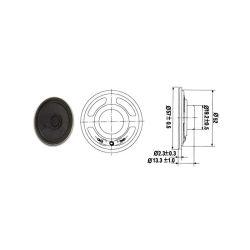 HAUT PARLEUR MINIATURE 1W 8 OHMS Ø 57mm (80120)