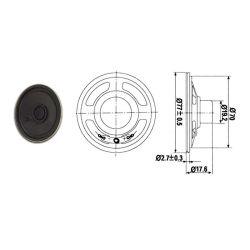 HAUT PARLEUR MINIATURE 1W 8 OHMS Ø 77mm (100100)