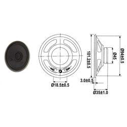 HAUT PARLEUR MINIATURE 2W 8 OHMS Ø 110mm (160220)