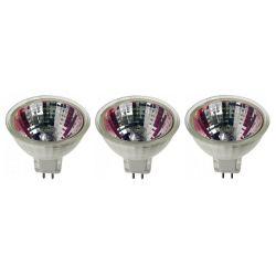 LOT 3 LAMPES HALOGENE 12V 50W 3000H 700 LUMENS MR16 GU5.3