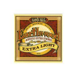 JEU EARTHWOOD EXTRA LIGHT ACOUSTIQUE 10-14-20W-28-40-50