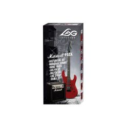 PACK GUITARE ELECTRIQUE LAG ARKANA A66 ROUGE + AMPLI MARSHALL MG10CF