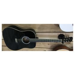 GUITARE FOLK DREADNOUGHT NOIR ALABAMA