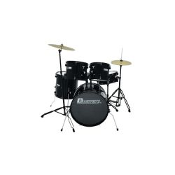 BATTERIE 5 PIECES DRUM-SET NOIRE DIMAVERY