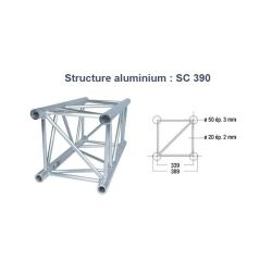 STRUCTURE ALU CARREE 390mm 2 METRES SC390 ASD