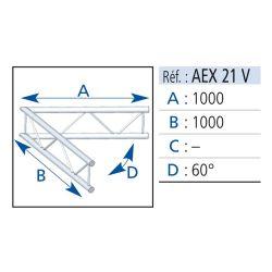 ANGLE 2 DEPARTS 60° LG 0.80X0.80M