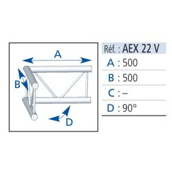 ANGLE 2 DEPARTS VERTICAL 90° LG 0.50X0.50M ASD